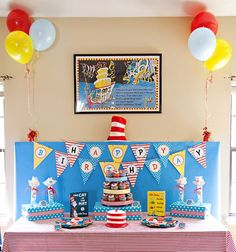 Dr. Seuss inspired birthday
