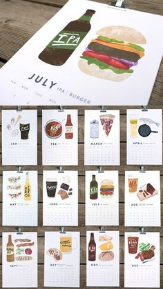 Every beer & food lover will need this! Beer + Food Pairings 2013 Calendar