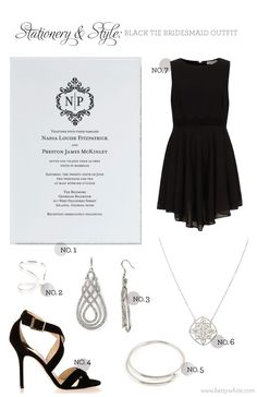 Stationery & Style: Black Tie Bridesmaid Outfit