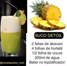 Suco detox de abacaxi