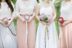 Modern protea bridal