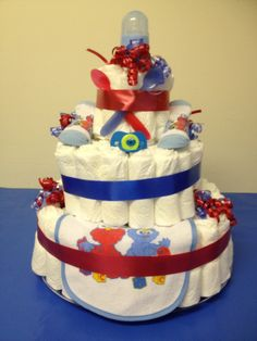 Large Sesame Street Diaper Cake from shersgifts.com   selling @ the Cloverdale Sunday (flea) market