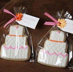 wedding cake cookie favors
