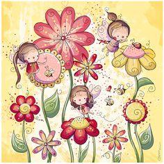 Garden Fairies - Rachelle Anne Miller