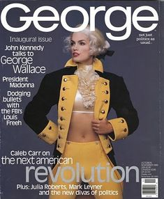 Cindy Crawford cover for the inaugural issue of John Kennedy Jr's George magazine October 1995.