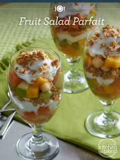 Here's a perfect summer breakfast #recipe! David's super-summery Fruit Salad Parfait...yum!