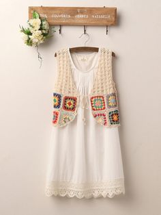 crochet cotton vest