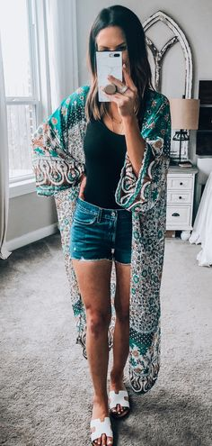 green cardigan #summer #outfits