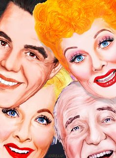 Ricky, Lucy, Ethel and Fred---I Love Lucy