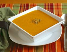 Roasted Squash and Apple Bisque: an easy, delicious and impressive soup that's vegan and made from whole foods ingredients