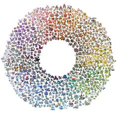 Pokemon color wheel.. Kinda crazy. Didn't realize there were that many of them.