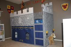 Ikea Kura Bed hacked / Cama Kura do Ikea transformada (Castle / Castelo)