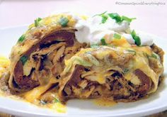 Fabulous Famous Recipes: Chi−Chi's Baked Chicken Chimichangas