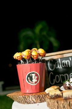 Seminoles cake pops | Set Free Photography #wedding