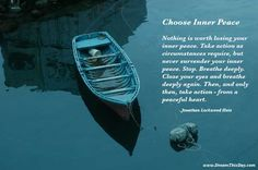 I'm feeling some inner peace right now, hope others are too..and if not now - very, very soon..