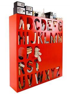 Alphabetic Bookshelf.