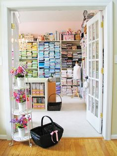 OMG! This sewing room is amazing!