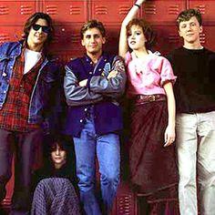 The Breakfast Club kids in 1985.