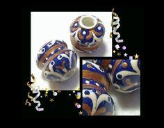 ROYAL FILIGREE Unique Handmade Tube Beads #HAF #HAFshop #Handmade #Artist $5.95