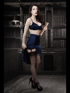Blue DeVille Suspender Skirt - Kiss Me Deadly