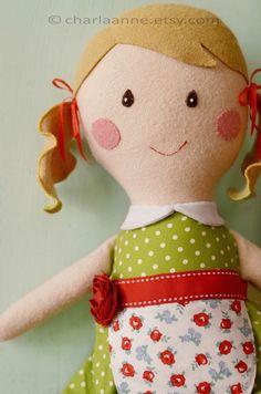 Grace doll. #sewing #felt #doll #cute #apron