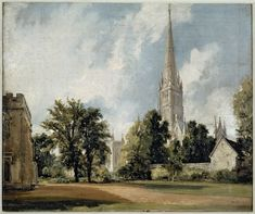 Salisbury Cathedral from the Close, John Constable, 1820