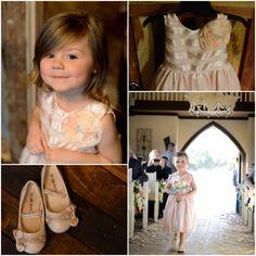 Texas ranch wedding littlest bridesmaid