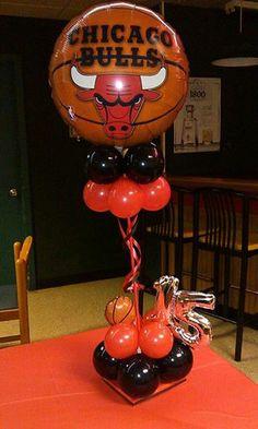 chicago bulls balloons decor on Pinterest