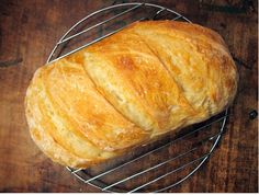 Who knew baking bread could be so easy. Simple Crusty White Bread - new recipe from @Jeannette