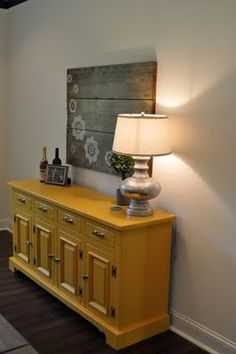 East Coast Creative: It Was All Yellow... Refinishing Furniture