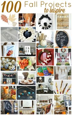 100 ideas for fall- So many great ideas to decorate!  #falldecor