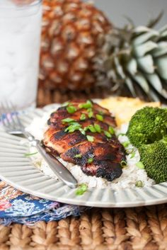 Hawaiian Chicken & Coconut Rice