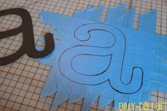 I always wondered how to make letters with tape... this is so simple!