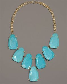 turquoise Harlow statement necklace.