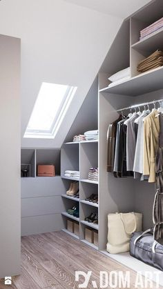 9 Best Sypialnia Garderoba Images On Pinterest Bedroom Closets Regarding attic Closet organizers #atticbedroomteenage