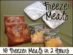 10 Freezer Meals in 2 Hours