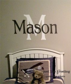 Childrens Decor Boys Vinyl Name Wall Decal Monogram for Nursery or Bedroom Vinyl Wall Decal -Vinyl Lettering -Vinyl Wall Art Sticker on Etsy, $24.00