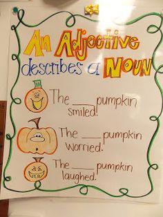 Making Grammar Fun! -- Adjective Pumpkins!