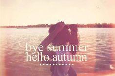 Goodbye Summer, Hello Autumn <3