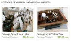 """This girl is a hoot with her fun (sarcastic) humor and great advice about being an antique (vintage) vendor.  The blog is called """"Vintage Rescue Squad"""" and it's worth a read."""