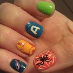 tux nail, geek, fingernail fun, amaz nail, nails, aveng nail