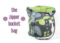 buckets, bucketbag, zipper bucket, bag tutorials, bags, purse patterns, sewing tutorials, bucket bag, sewing patterns