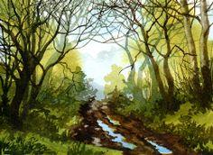David Hockney Landscape Exhibition.