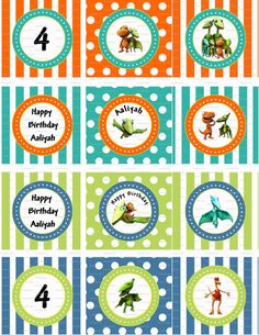 multi use (cupcake toppers, stickers, favors, etc)