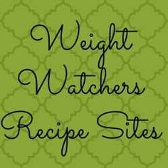 Weight Watcher Recipe Sites