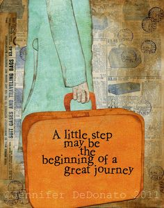 One step at a time, we live our lives ... isn't this a neat illustration by Jennifer Denato of Colorfly Studio?
