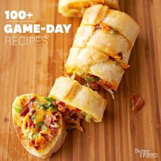 Game Day Recipes via bhg