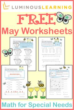 Luminous Learning worksheets are designed with built-in supports to empower students with learning disabilities. Sign up for our newsletter to receive FREE math worksheets every month!