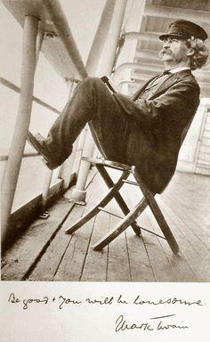 © Walter G. Chase, 1896, Portrait of Mark Twain