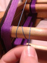 Tablet weaving- how to measure out fiber lengths in prep for warping a loom.